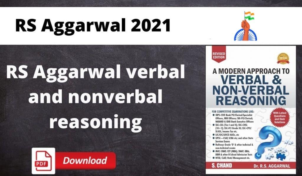 RS Aggarwal reasoning book