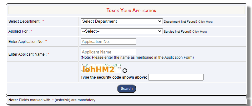 E District Delhi rack your Application
