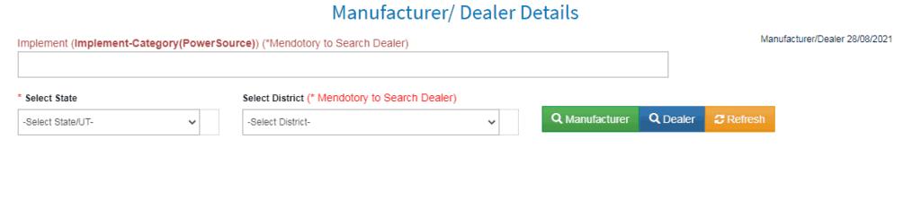 Know Manufacturer Dealer Details