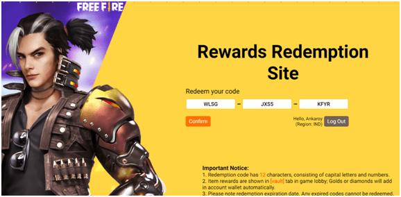 rewards redemption site
