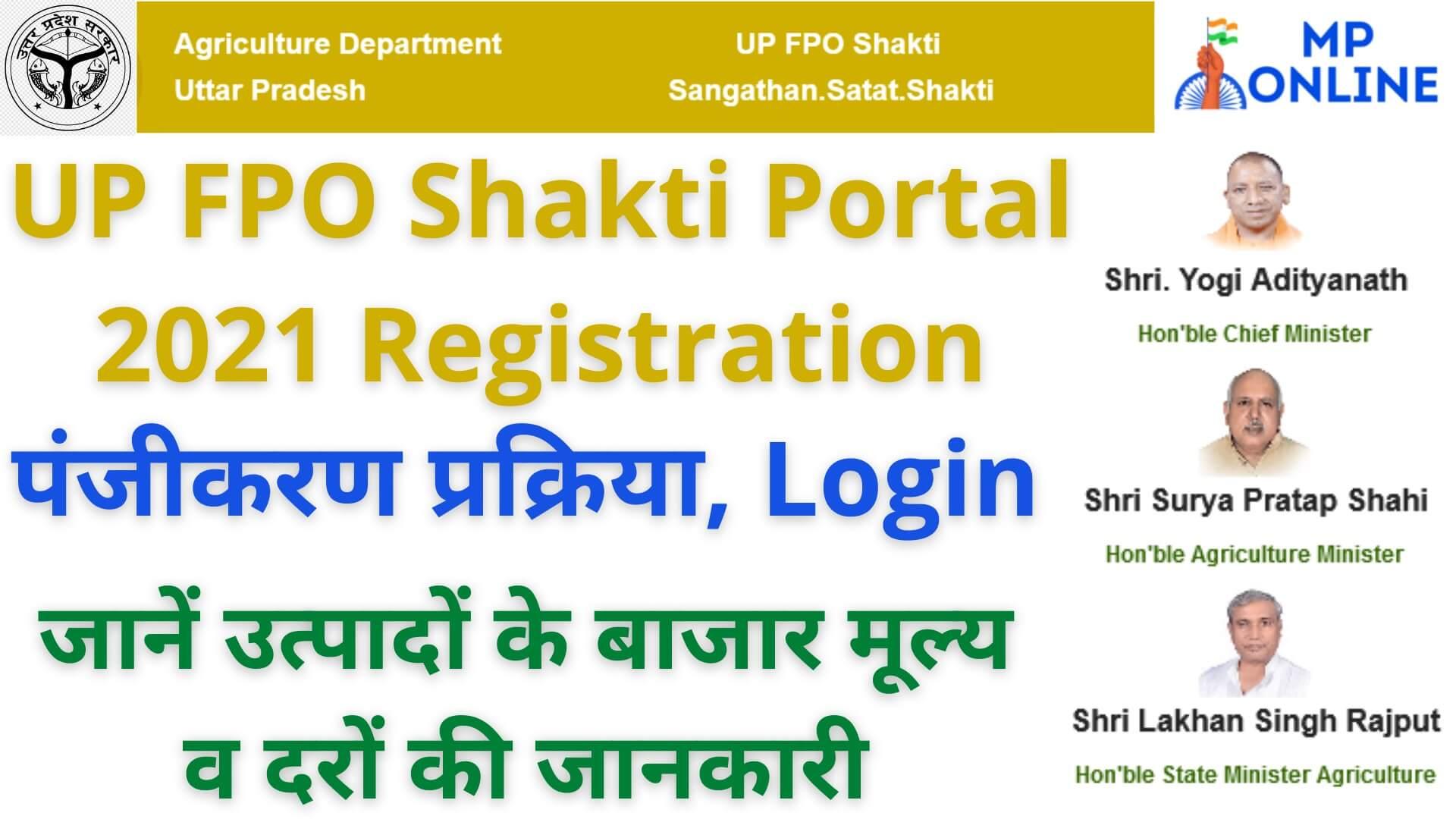 UP FPO Shakti Portal 2021